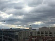 landskap för politisk storm i Washington Arkivbild