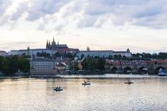 Landskap för Praha stadssikt Royaltyfria Bilder