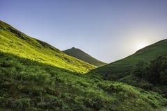 Landskap för sjöområdesnationalpark, Cumbria, UK, vår 2017 Arkivbild