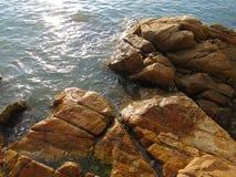 Landskap för sjösida för Lamma ö royaltyfri fotografi