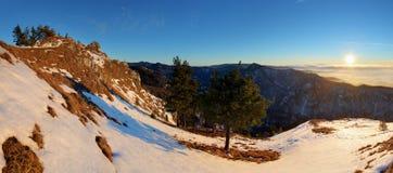Landskap för Slovakien bergvinter Arkivfoto