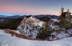 Landskap för Slovakien bergvinter Royaltyfria Bilder