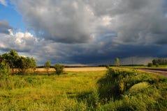 landskap för sommarlandskapsommar i regionen för centralsvartjord, Ryssland Royaltyfri Bild