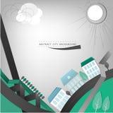 Landskap för 01 stad vektor illustrationer