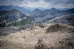 Landskap för stenigt berg av de Allgau fjällängarna Royaltyfri Fotografi