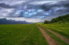 Landskap för stormmoln Royaltyfri Foto