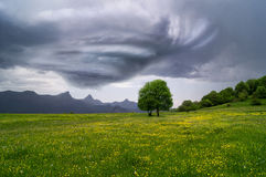 Landskap för stormmoln Arkivbild