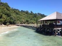 Landskap för strand för Sabah ösemesterort Fotografering för Bildbyråer