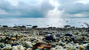 Landskap för strandhimmelnatur arkivfoto