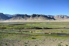 Landskap för tibetan platå Royaltyfria Bilder