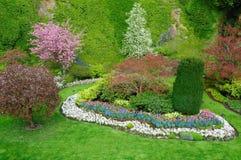 landskap för trädgårdar Arkivbilder