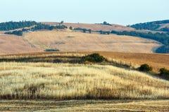 Landskap för Tuscany soluppgångbygd, Italien Arkivbild
