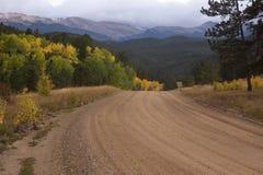 landskap för väg för höstcolorado berg Arkivbilder