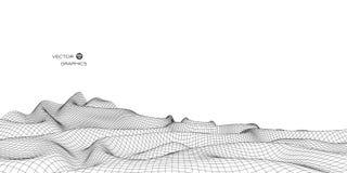 landskap för vektor 3D Royaltyfria Bilder