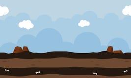 Landskap för vektorkonst för modig design Royaltyfria Bilder
