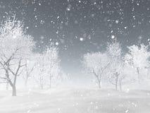 landskap för vinter 3D med snö vektor illustrationer