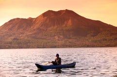 LANDSKAP FÖR VULKAN FÖR ASIEN INDONESIEN BALI MT BATUR Royaltyfria Foton