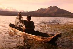 LANDSKAP FÖR VULKAN FÖR ASIEN INDONESIEN BALI MT BATUR Fotografering för Bildbyråer