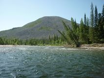Landskap flod Royaltyfri Bild