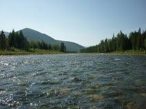 Landskap flod Royaltyfria Bilder
