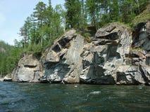 Landskap flod Arkivbild