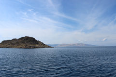 Landskap från den kroatiska stranden Arkivbild