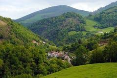 Landskap från det franska baskiska landet Arkivfoto