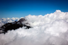 Landskap från det Indonesien berget Arkivfoto