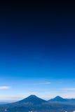Landskap från det Indonesien berget Royaltyfria Bilder