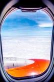 Landskap från fönstret Arkivbilder