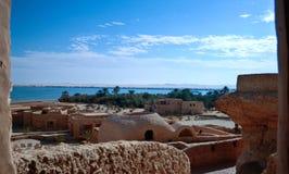 Landskap från Gaafar ecolodge Siwa Egypten Royaltyfri Fotografi