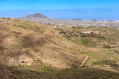 Landskap från Guia de Isora Arkivbilder