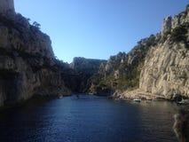 Landskap från Marseille frioul Arkivfoto