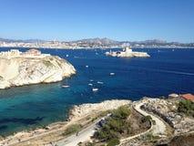 Landskap från Marseille frioul Royaltyfria Foton