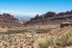 Landskap från mellanstatliga 70, Utah Arkivfoto