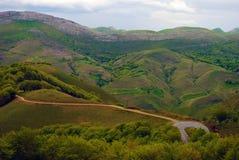 Landskap från Pyreneesna Arkivbild
