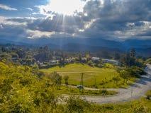 landskap från synvinkeln av oskulden av Lourdes San Pedro de colalao Royaltyfri Bild