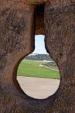Landskap från Zorita de los Rotting Rockera Royaltyfri Fotografi
