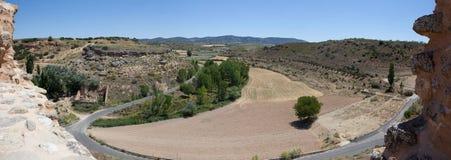 Landskap från Zorita de los Rotting Rockera Arkivfoto