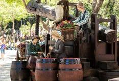 Landskap gällde produktionen av vin under vinfestivalen i Funchal på Madera, Arkivfoton