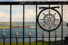 Landskap Greencastle Inishowen Ståndsmässiga Donegal ireland royaltyfri foto