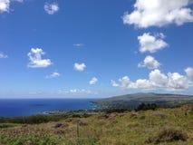 Landskap Hanga Roa Royaltyfria Bilder