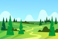 Landskap horisont Natur vektor royaltyfri illustrationer