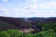 Landskap Hunsruek, Tyskland royaltyfri foto