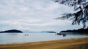 Landskap i ön Koh-Mak Arkivbilder