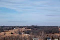 Landskap i Anderson, Missouri Arkivbild