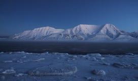 Landskap i arktisk Arkivfoto