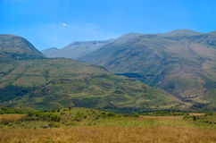 Landskap i Balkan kullar Arkivbilder