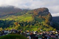 Landskap i Balzers, Lichtenstein Royaltyfri Bild