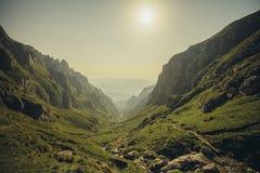 Landskap i Bucegi berg Arkivfoton